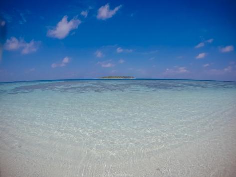วิวสวยๆ น้ำใสๆ จากเกาะ Thinadhoo (02/01/15)