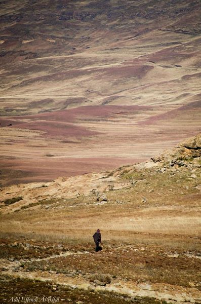 ระหว่างทางแห่งหนึ่ง ในประเทศ Lesotho